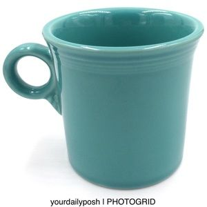 Fiesta HLC Tom and Jerry ring coffee mug—Turquoise